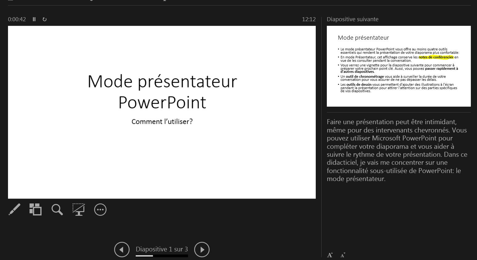 Tutoriel PowerPoint: comment utiliser le mode Présentateur