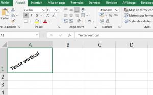 Comment écrire du texte verticalement ou selon un angle dans une feuille Excel