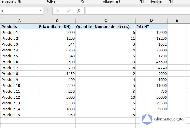 Déplacer une colonne Excel avec couper-coller