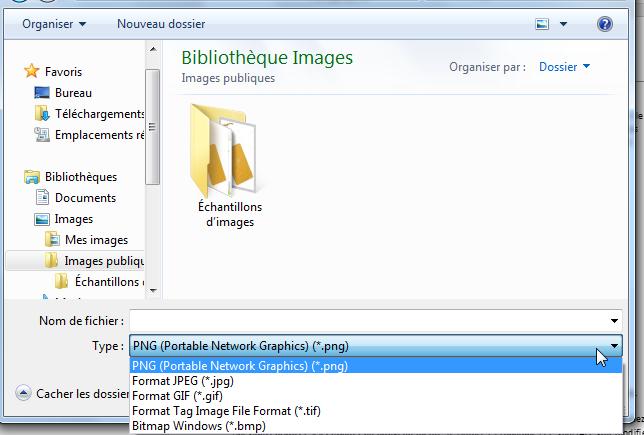 Convertir Word en JPEG -Sélectionnez le format souhaité