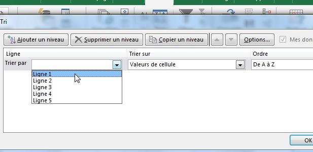 Trier alphabétiqument Excel