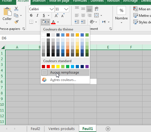 Afficher le quadrillage Excel