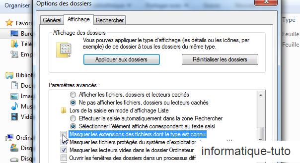 compresser un fichier excel- afficher l'extension