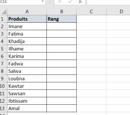 Ajouter une colonne d'aide pour trier les données