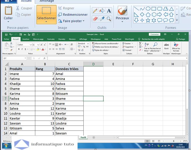 Convertir une feuille de calcul Excel en JPG, PNG ou GIF
