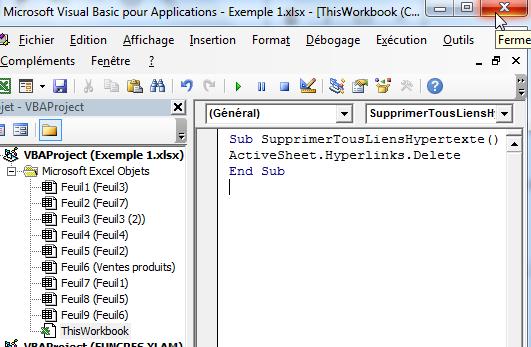 Enleverlien hypertexte Excel avec macro