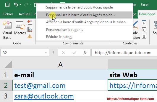 Supprimer lien hypertexte Excel