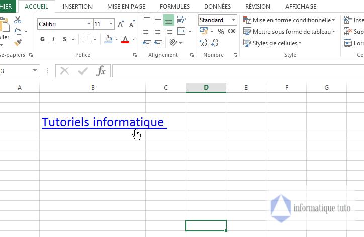 Insérer un lien hypertexte à l'aide de la boîte de dialogue-résultat