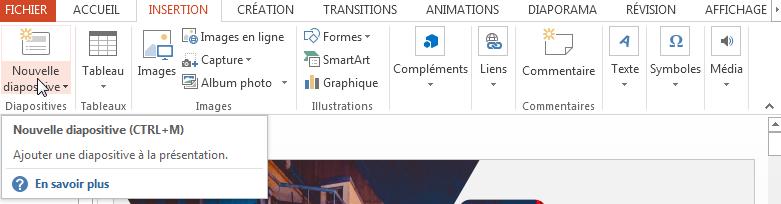 Tutoriel PowerPoint-Ajouter une nouvelle diapositive