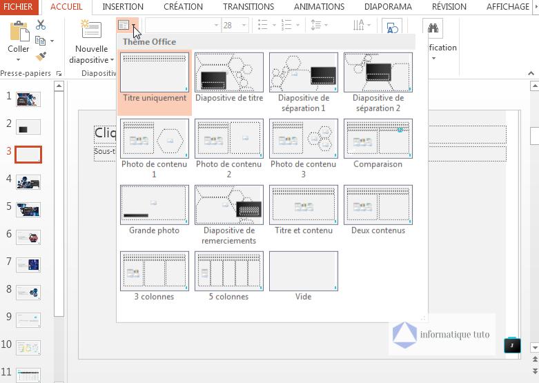 Tutoriel PowerPoint-Modifier le thème