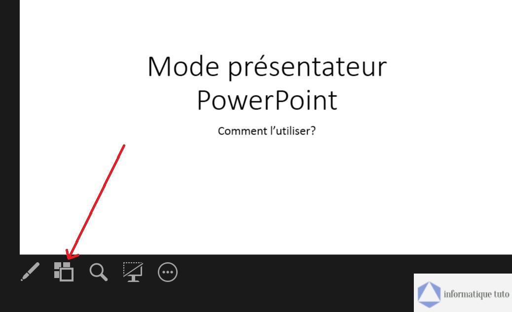 Aperçu des diapositives dans le mode présentateur PowerPoint