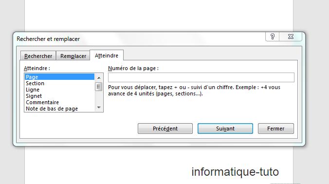 Supprimer une page avec la boite de dialogue rechercher et remplacer